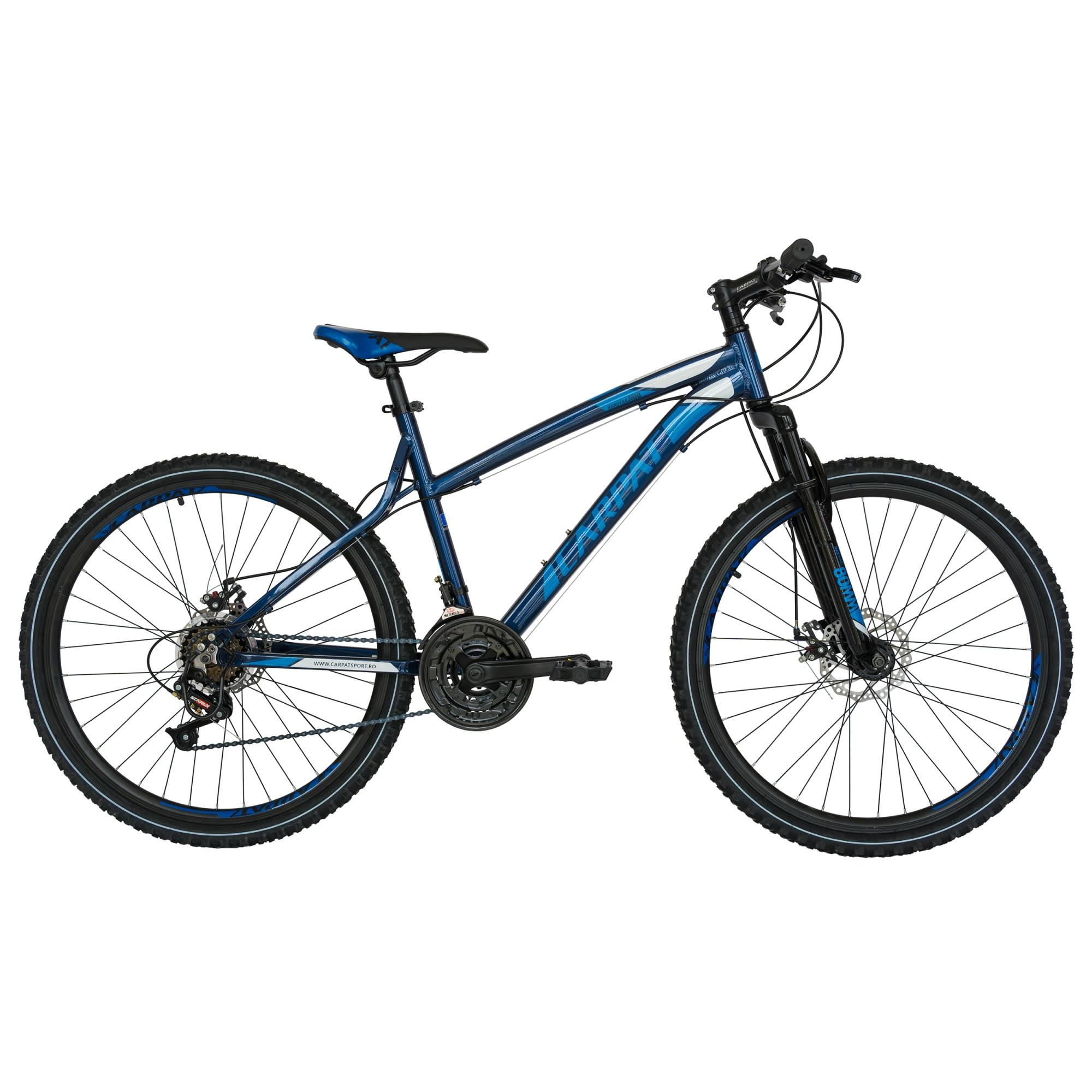 "Fotografie Bicicleta Carpat MTB AL 26"" Disc C2654A, Gri/Albastru"