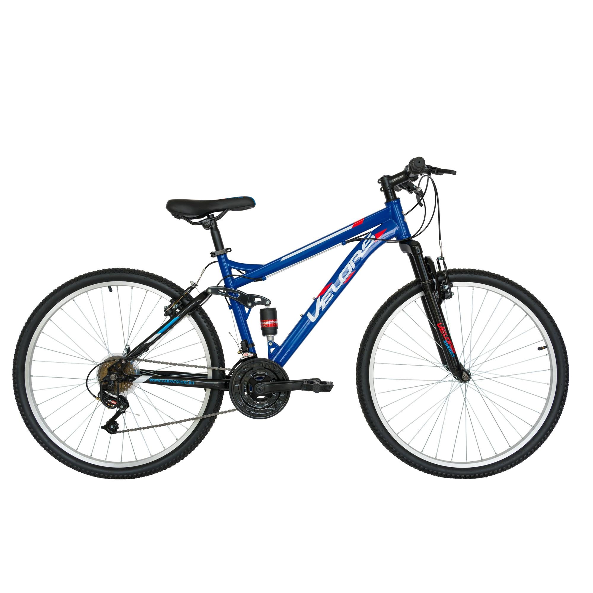 "Fotografie Bicicleta Velors Full Suspesion 26"" V2660A, Albastru/Negru"