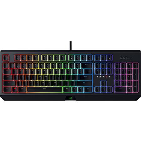 Клавиатура Gaming Razer BlackWidow 2019, Layout US, Green switch, Механична, Черна