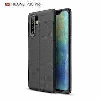 Силиконов калъф Tpu Auto focus за Huawei P30 Pro , Черен