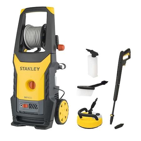 Водоструйка Stanley SXPW22PE, 2200 W, 150 bar максимално налягане, 440 л/ч дебит на вода, 50°C максимална температура + въртяща четка