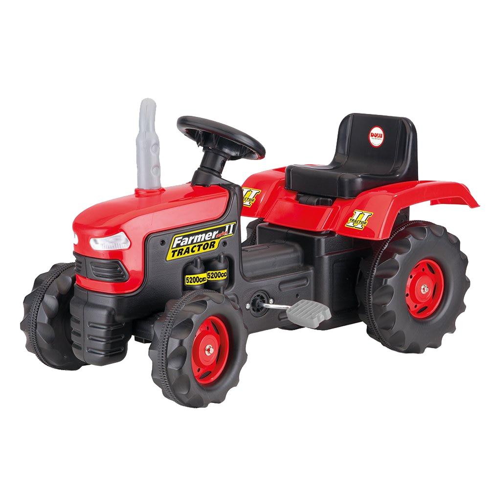 Fotografie Tractor Dolu cu pedale, rosu