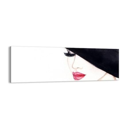 Obraz na płótnie - kobieta kapelusz - ARTTOR - 90x30 cm - AB90x30-2947