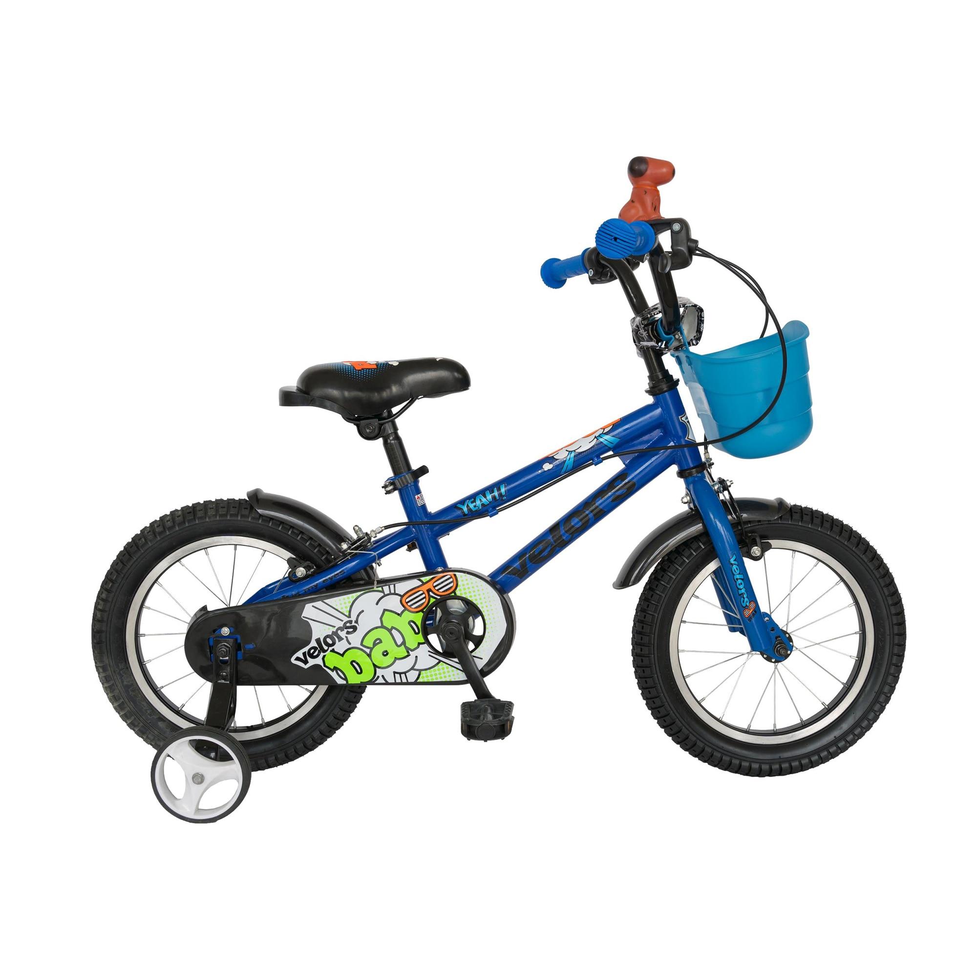 "Fotografie Bicicleta copii 14"" Velors V1401A, pentru baieti, albastru"