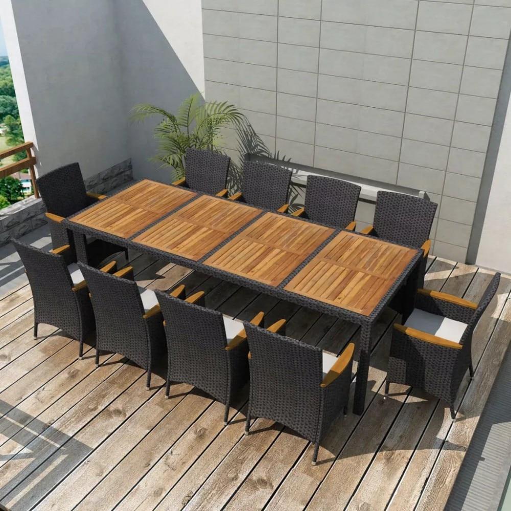10 személyes kerti étkező garnitúra