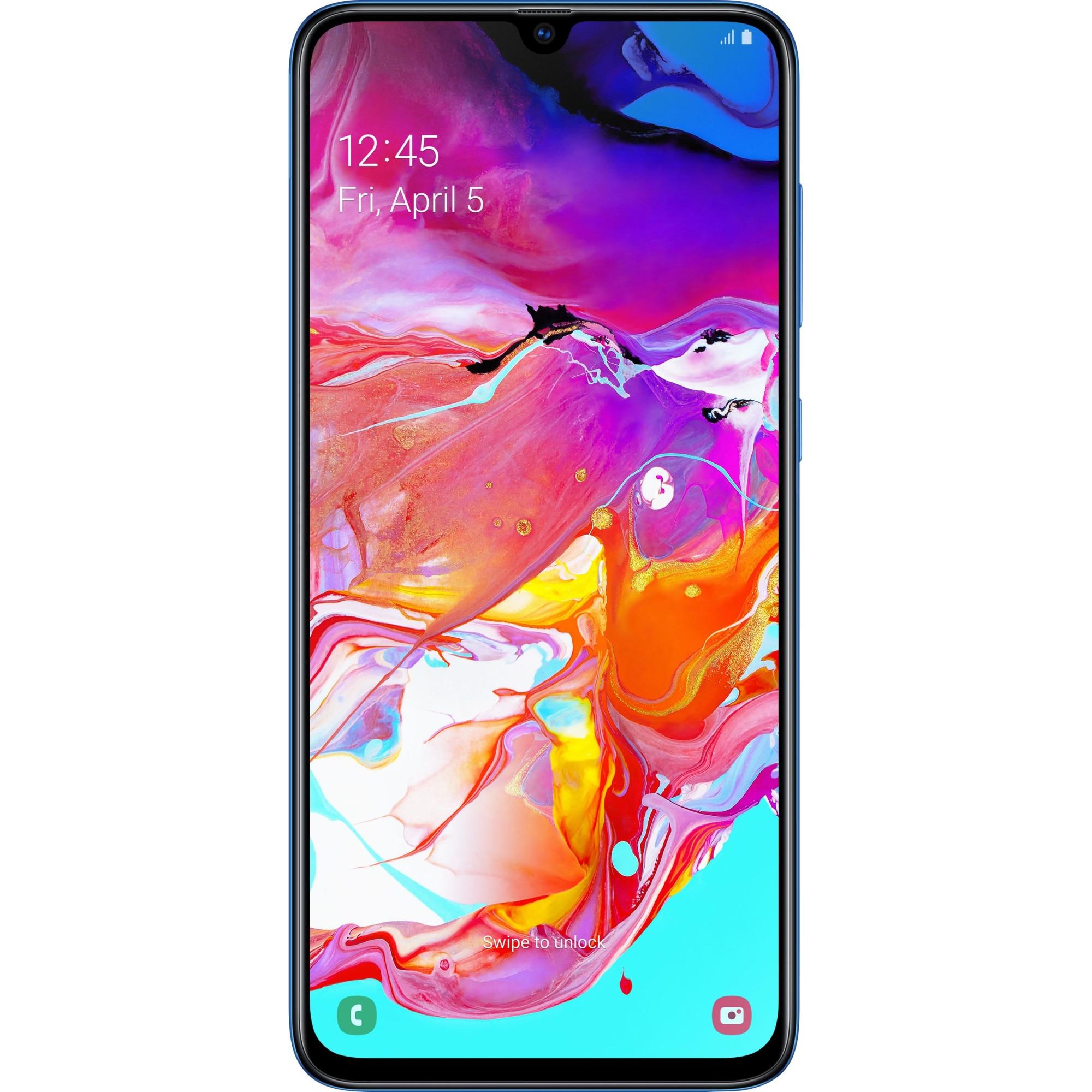 Fotografie Telefon mobil Samsung Galaxy A70, Dual SIM, 128GB, 6GB RAM, 4G, Blue