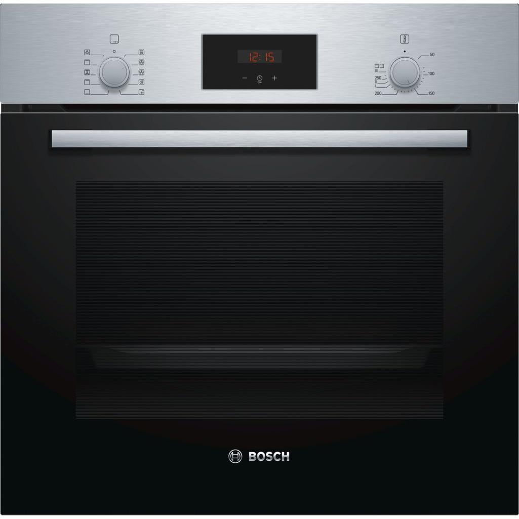 Fotografie Cuptor incorporabil Bosch HBF154YS0, Electric, Multifunctional, Autocuratare EcoClean Direct, 66 L, Clasa A, Inox