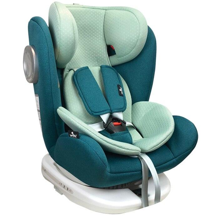 Fotografie Scaun auto ISOFIX Lorelli Premium Lusso SPS, Rotativ, 0-36 kg, Turcoaz/Verde