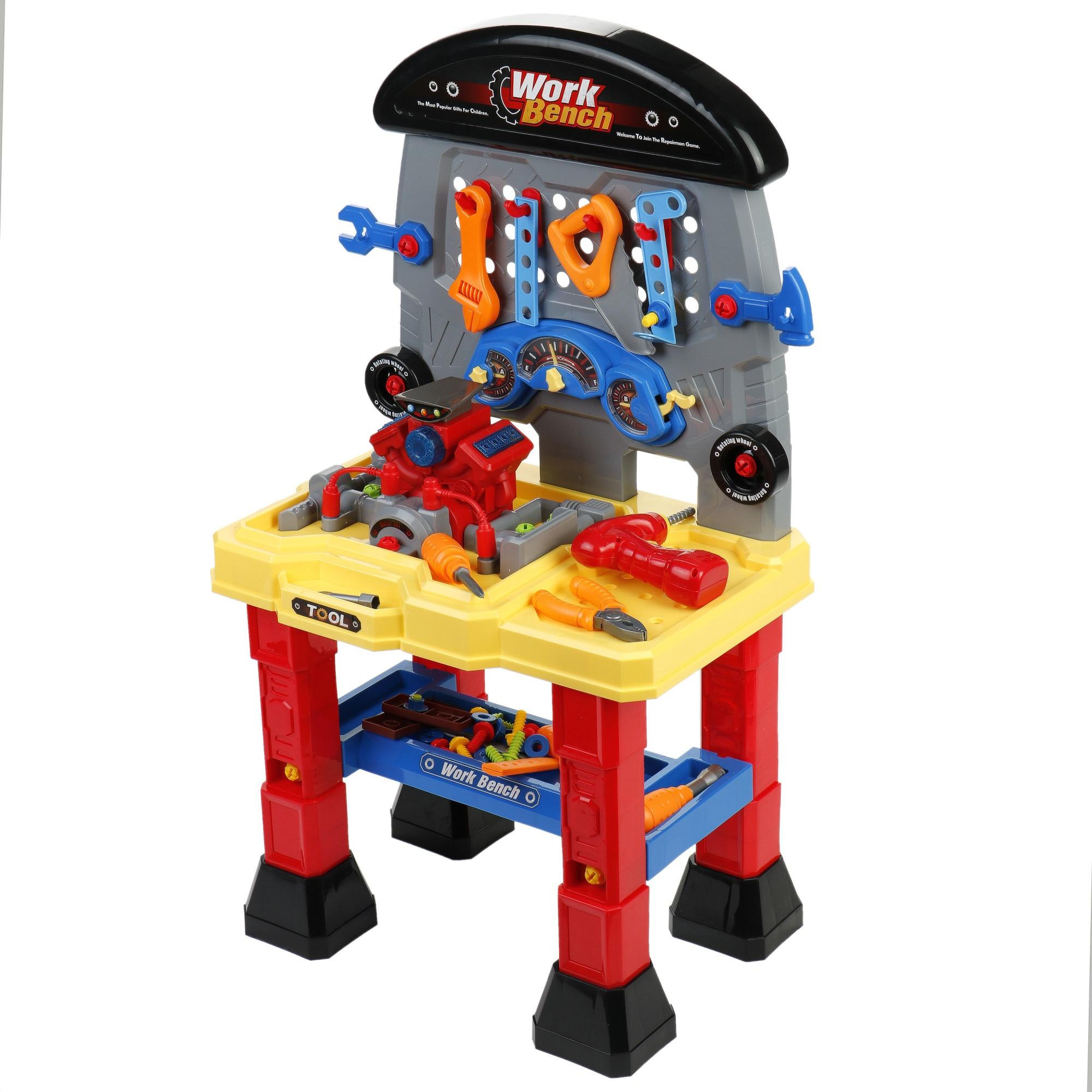 Fotografie Banc de lucru M-Toys cu unelte si accesorii, 37 piese