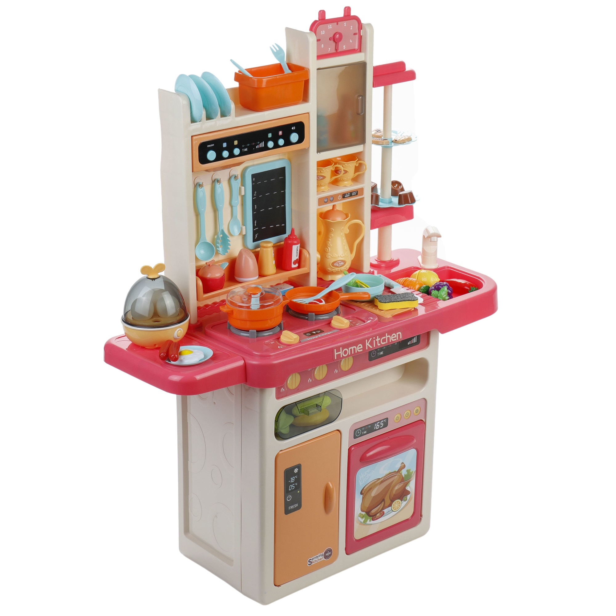 Fotografie Bucatarie M-Toys cu 65 accesorii, lumini si sunet, Roz