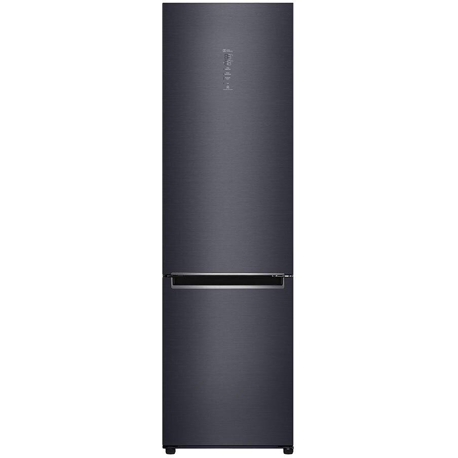 Fotografie Combina frigorifica LG GBB92MCAXP, 384 l, Full NoFrost, Smart Diagnosis, WIFI, Compresor Centum System, Clasa A+++, H 203 cm, Negru