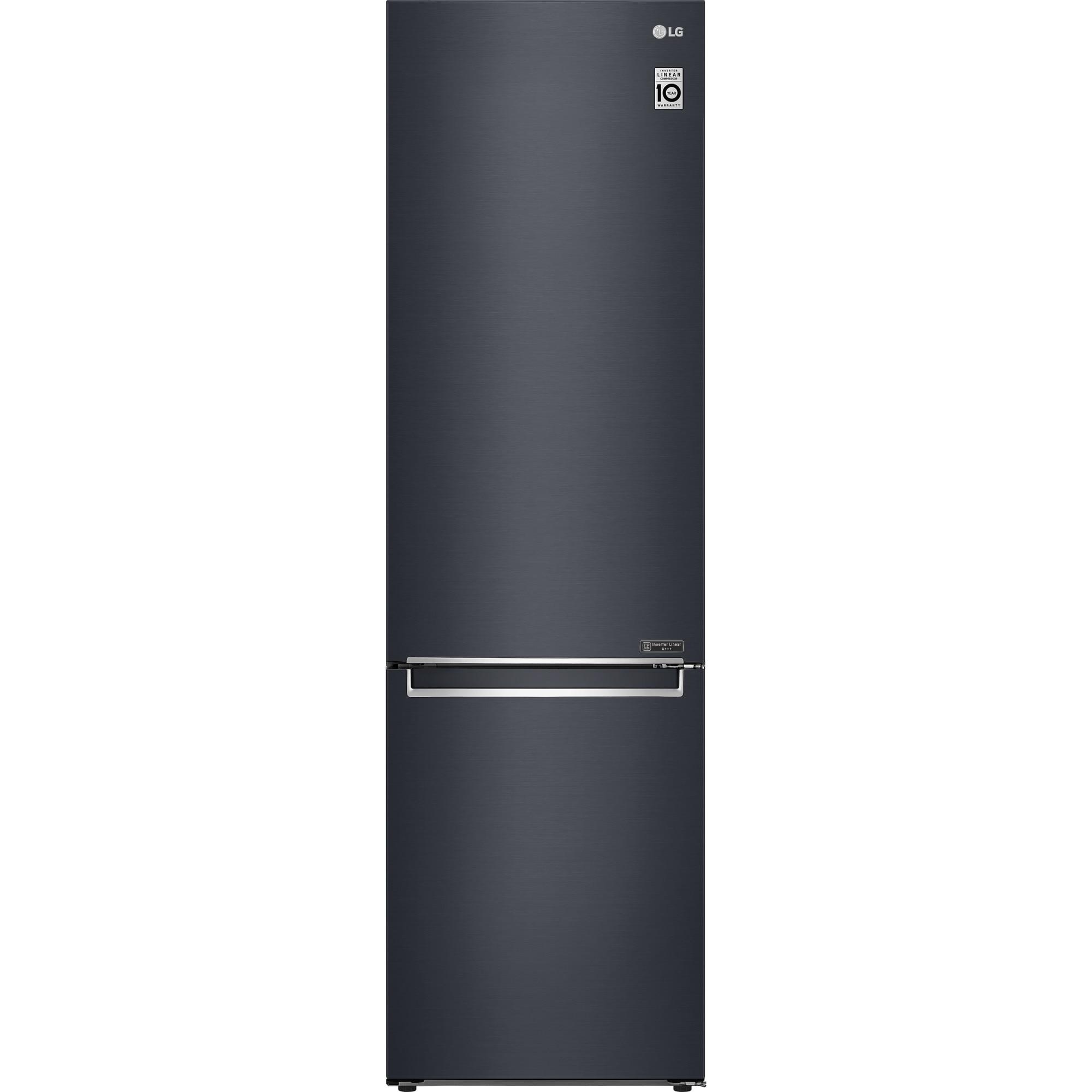 Fotografie Combina frigorifica LG GBB72MCEFN, 384 l, Clasa D, Full NoFrost, Compresor Inverter Linear, H 203 cm, Negru