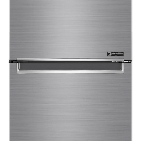 Хладилник с фризер LG GBB62PZFFN, 384 л, Клас D, Full NoFrost, Компресор Inverter Linear, Дисплей Extern, H 203 см, Сребрист