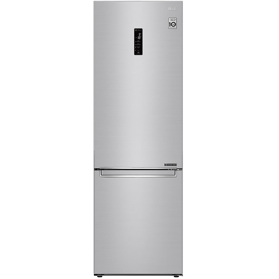 Fotografie Combina frigorifica LG GBB72NSDFN, 384 l, No Frost, Compresor Inverter Linear, Display Extern, Raft sticle, Clasa D, H 203 cm, Inox