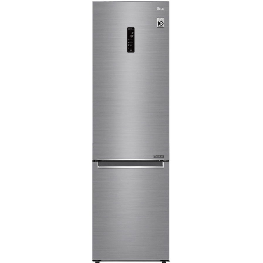 Fotografie Combina frigorifica LG GBB62PZHZN, 384 l, No Frost, Compresor Inverter Linear, Display Extern, Clasa A++, H 203 cm, Argintiu