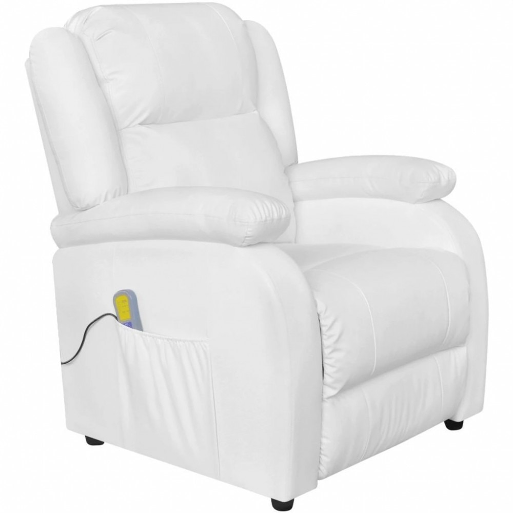 VID Fehér elektromos masszázs TV fotel eMAG.hu