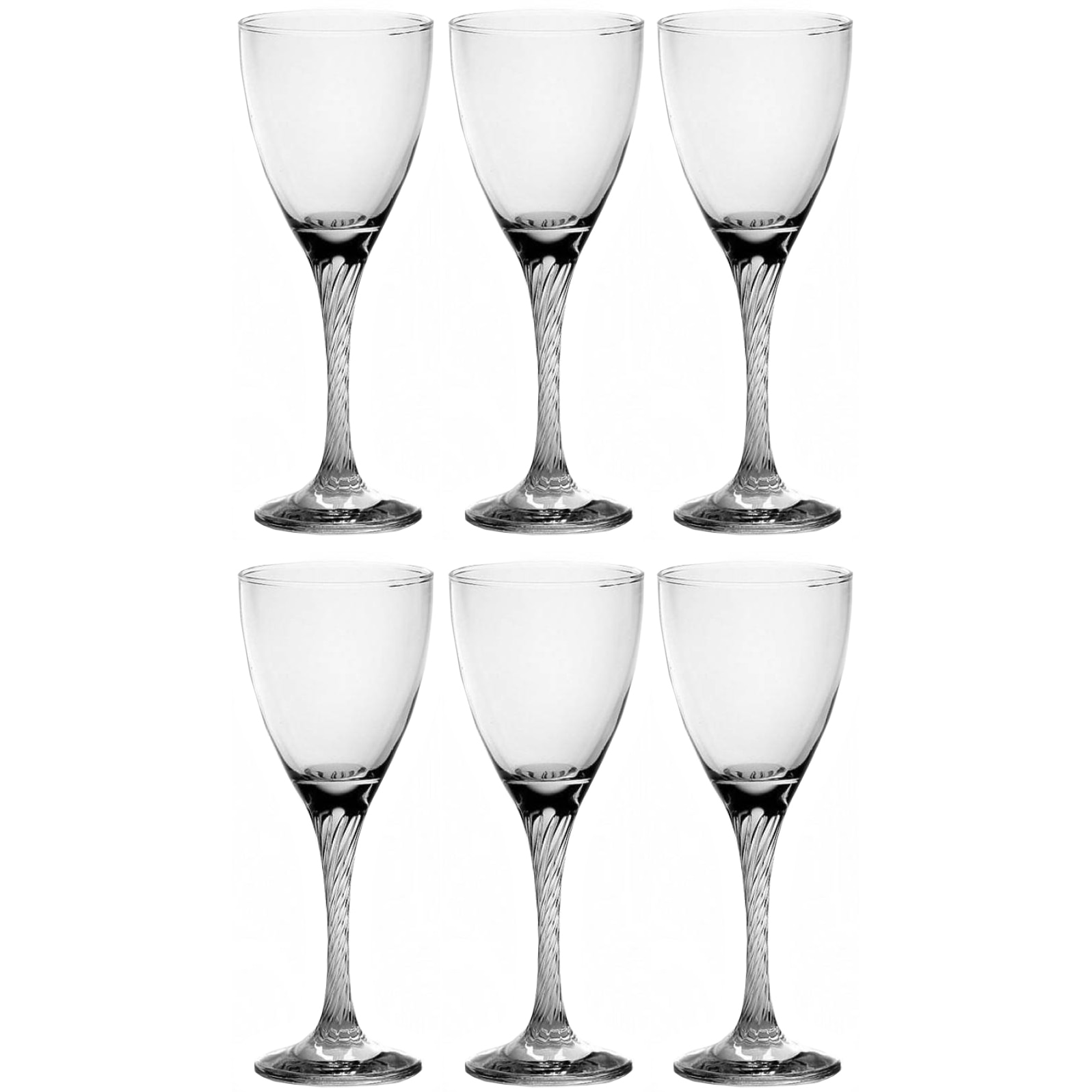 Fotografie Set pahare vin rosu, Pasabahce Twist, 6 piese, 205 ml