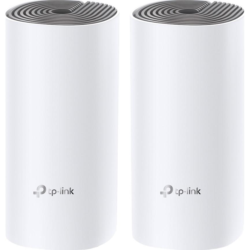 Fotografie Sistem Wi-Fi Mesh TP-Link Deco E4 (2-pack) AC1200 cu acoperire completa pentru casa