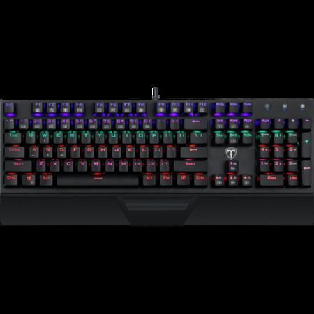Клавиатура Gaming Redragon T-Dagger Destroyer, Механична, Rainbow подсветка, Switch Outemu Blue, Black