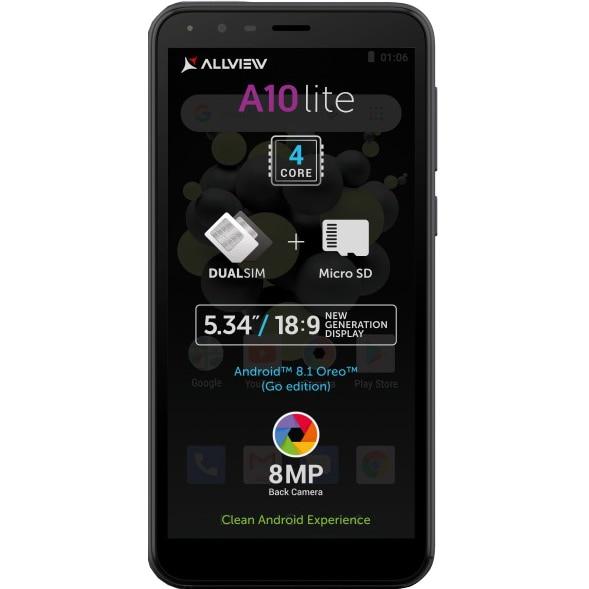 Fotografie Telefon mobil Allview A10 Lite, Dual SIM, 2GB RAM, 16GB, 3G, Black