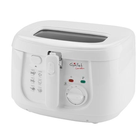 Gallet GALDF165 olajsütő, 1800W, 150 - 190 fok áramlási hőmérséklet, 2.5l olaj kapacitás, fehér