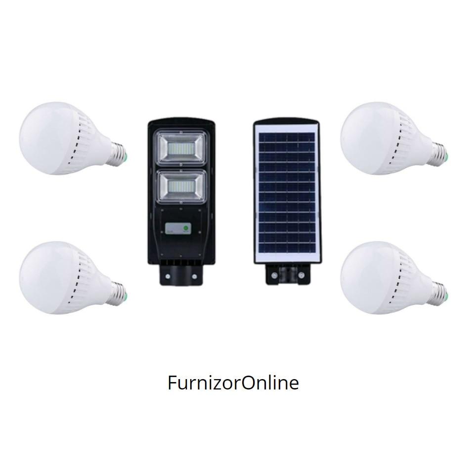 Lampa Solara De Exterior Cu Senzor Miscare 40 W Waterproof Cadou 5 Becuri 5w Furnizoronline Emag Ro