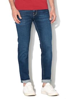 Pepe Jeans London, Вталени дънки Hatch с ниска талия, Син