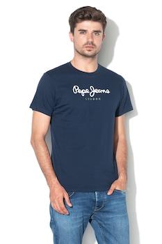 Pepe Jeans London, Eggo logómintás pamutpóló, Sötétkék