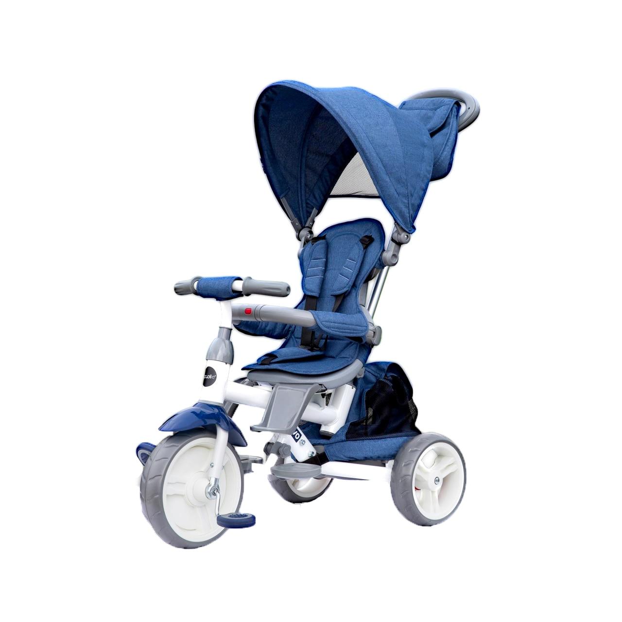 Fotografie Tricicleta cu sezut reversibil Coccolle Evo, Albastru