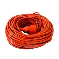 Cordon prelungitor Strohm SM-PR-30, fisa-priza, cablu H05VV-F 3x1.5mmp, 30m, Portocaliu
