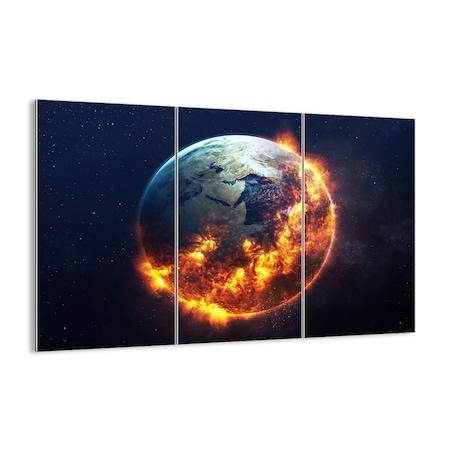 Obraz na szkle - ziemia ogień glob - ARTTOR - 165x110 cm - GCE165x110-2875