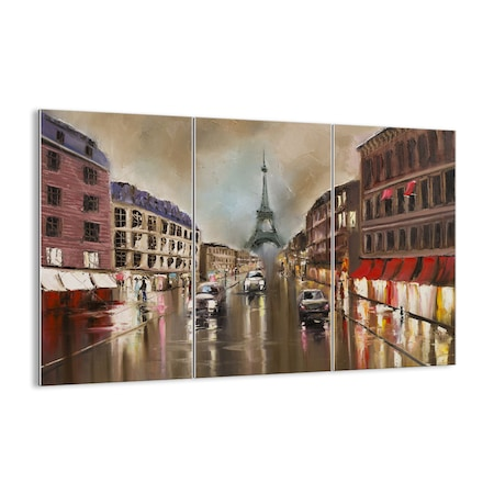Obraz na szkle - Paryż wieża ulica - ARTTOR - 165x110 cm - GCE165x110-3431