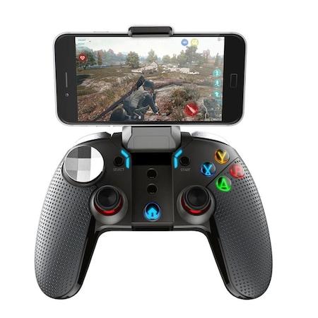 Controller Joystick telefon gamepad Dualshock, vibratii, lumini, Android, IPEGA PG-9099, Wireless, Negru