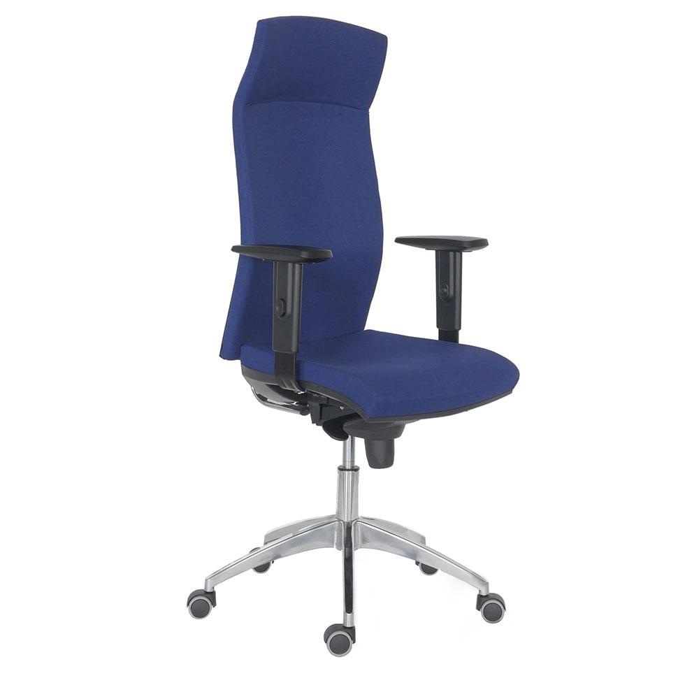 Fotografie Scaun ergonomic rotativ 2310 Syn Antares, cu brate, textil FBSA026, albastru