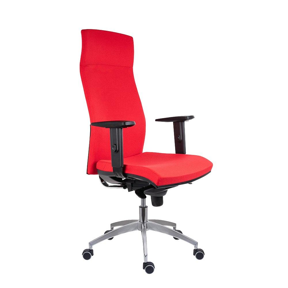 Fotografie Scaun ergonomic rotativ 2310 Syn Antares, cu brate, textil FBSA105, rosu