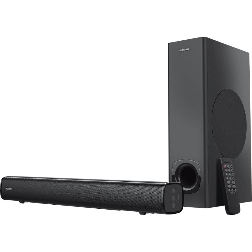 Fotografie Soundbar PC Creative Stage High Performance 160W, Bluetooth, telecomanda, Negru