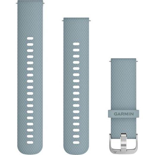 Fotografie Curea ceas smartwatch Garmin, 20mm, Silicone, Seafoam/Silver