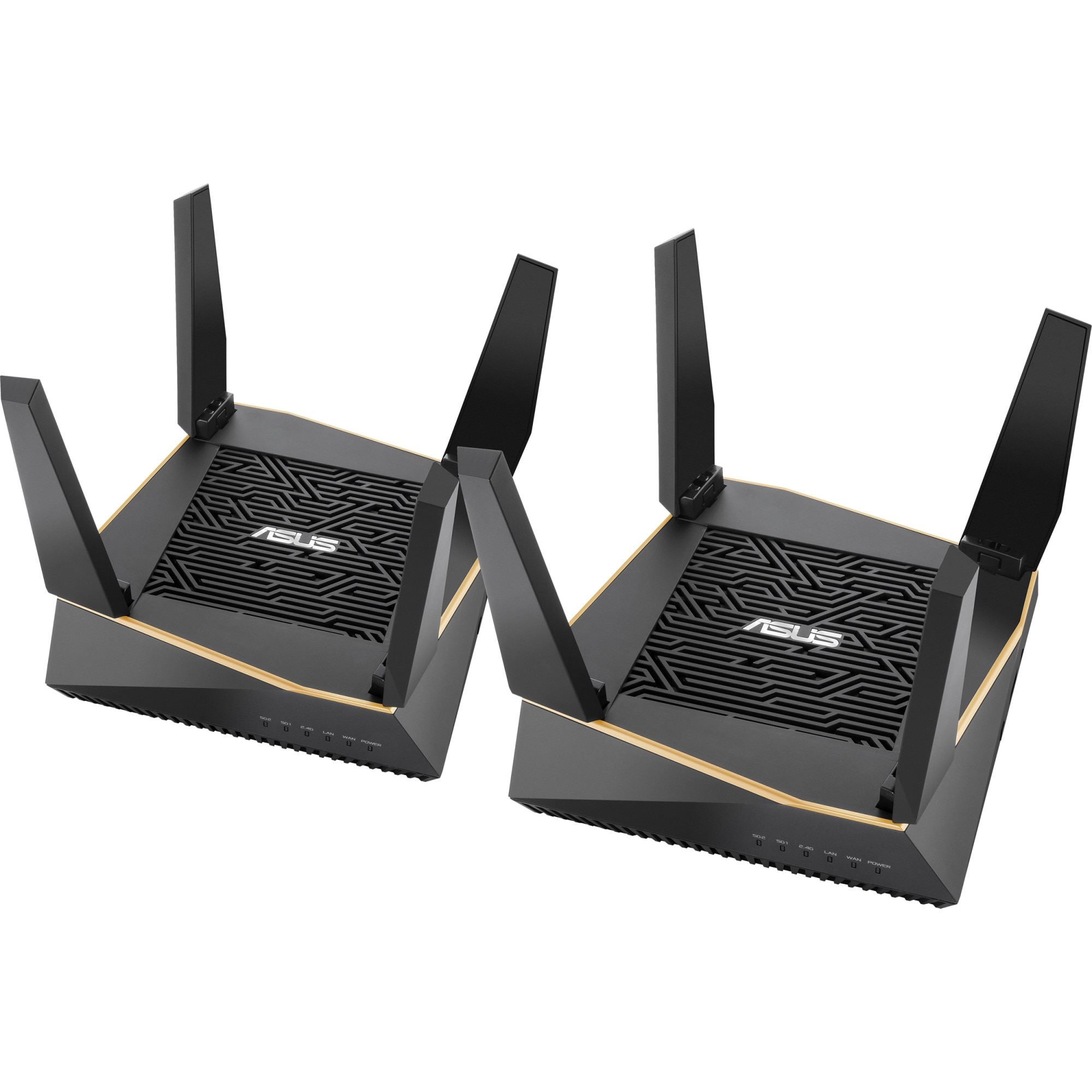 Fotografie ASUS AiMesh AX6100 WiFi System (RT-AX92U 2-Pack), Tri-Band WiFi 6 (802.11ax), Whole Home Mesh for Large, Multistory Homes, Flexible SSID setting, Ethernet backhaul, Life-time Free Network Security
