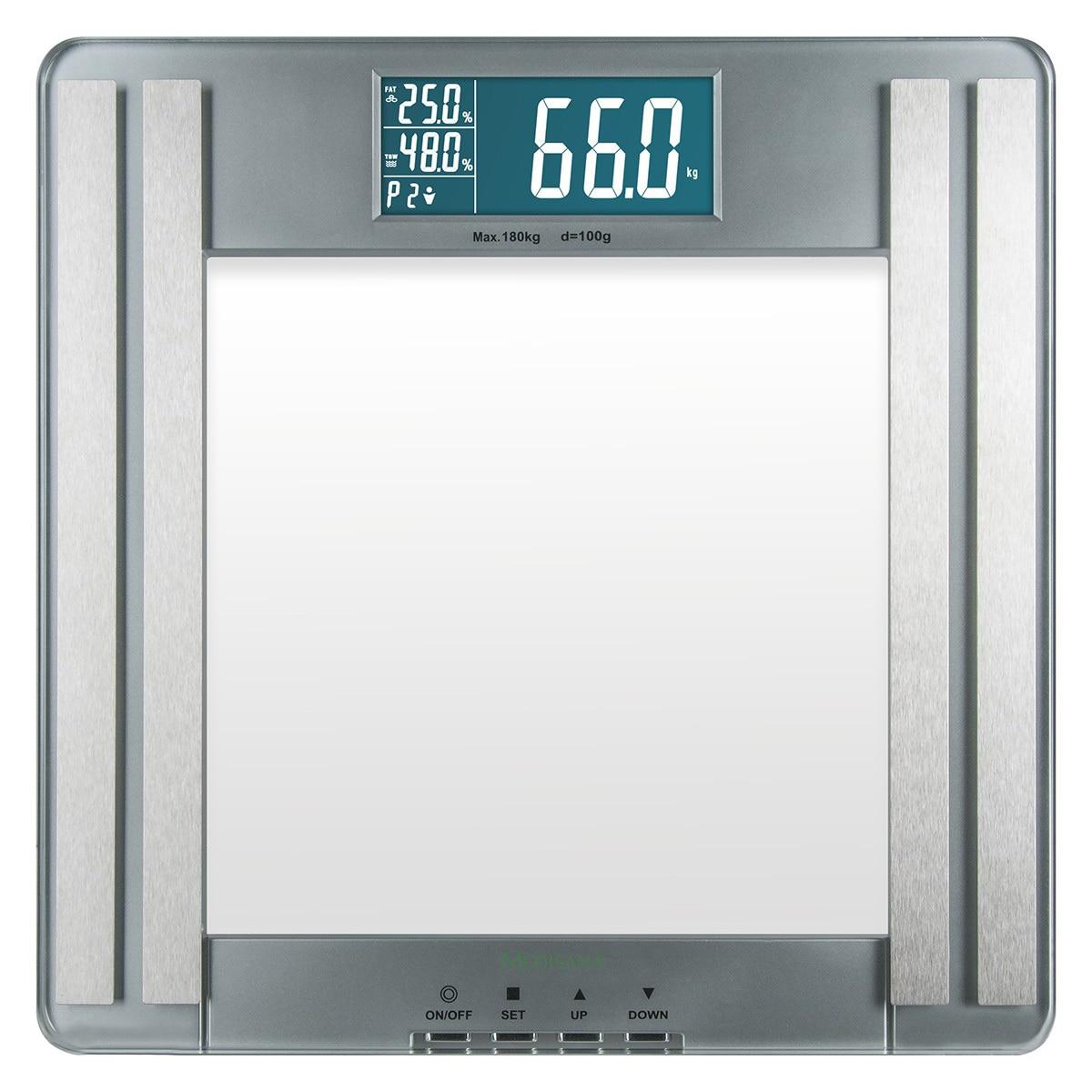 Fotografie Cantar electronic cu analizator corporal Medisana PSM, 180 kg, 10 memorii, Argintiu