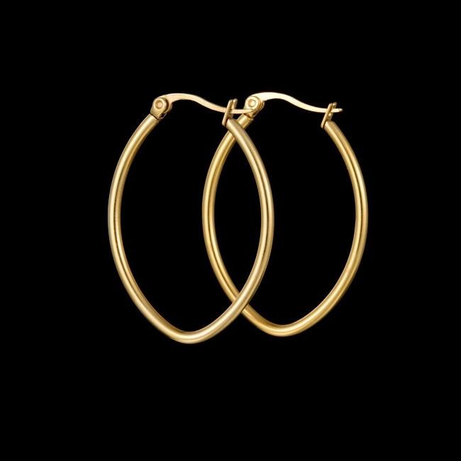 cel mai bun angrosist cumpărători de vânzări vânzarea de încălțăminte Cercei din inox, placati cu aur de 18 k - eMAG.ro