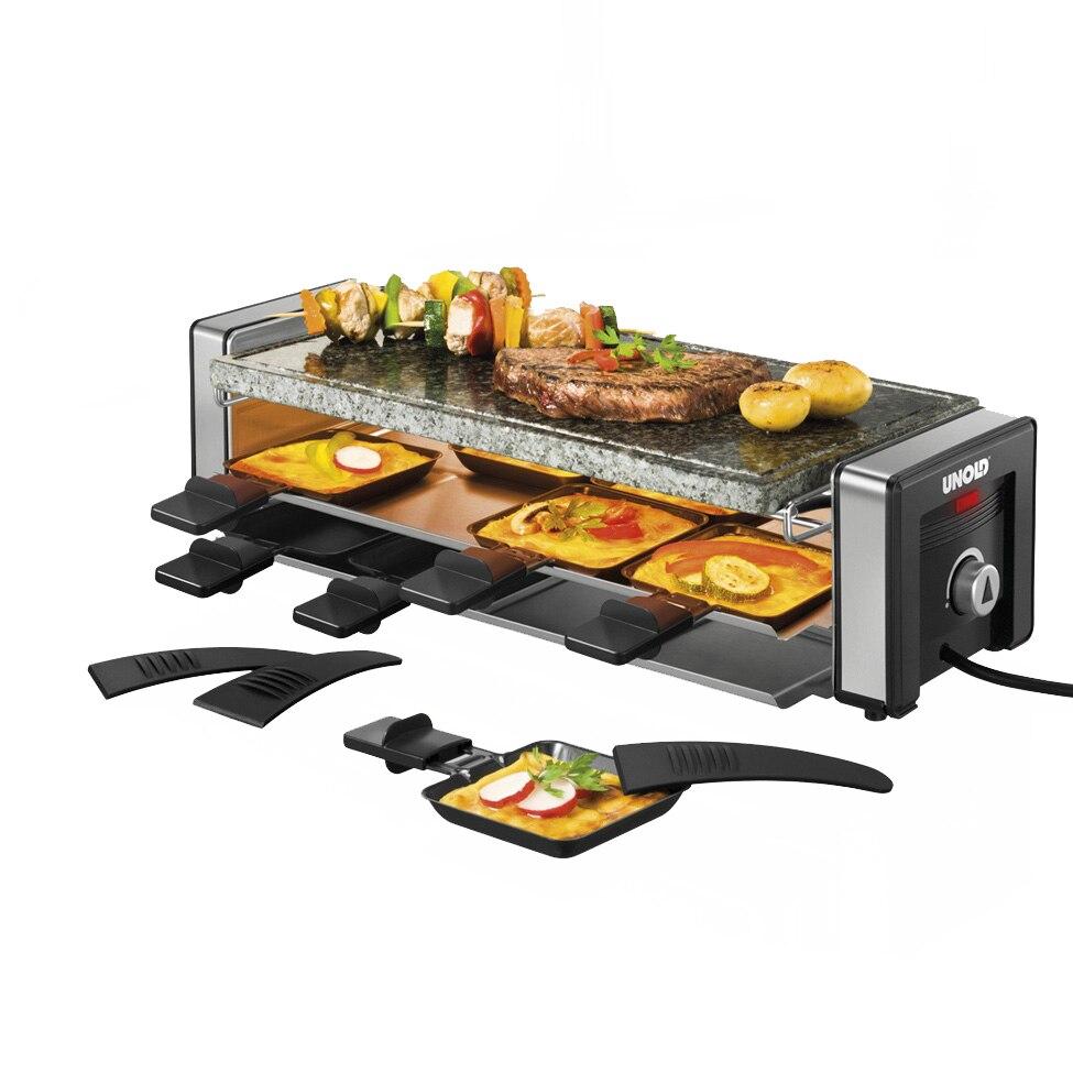 Fotografie Gratar electric Raclette Unold, 1100W, Negru