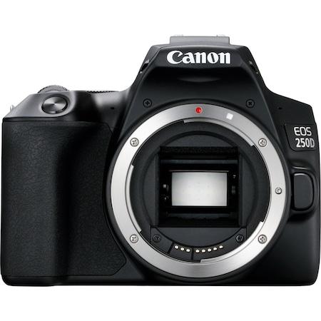 Aparat foto DSLR Canon EOS 250D, 24.1 MP, Wi-Fi, Body, Negru