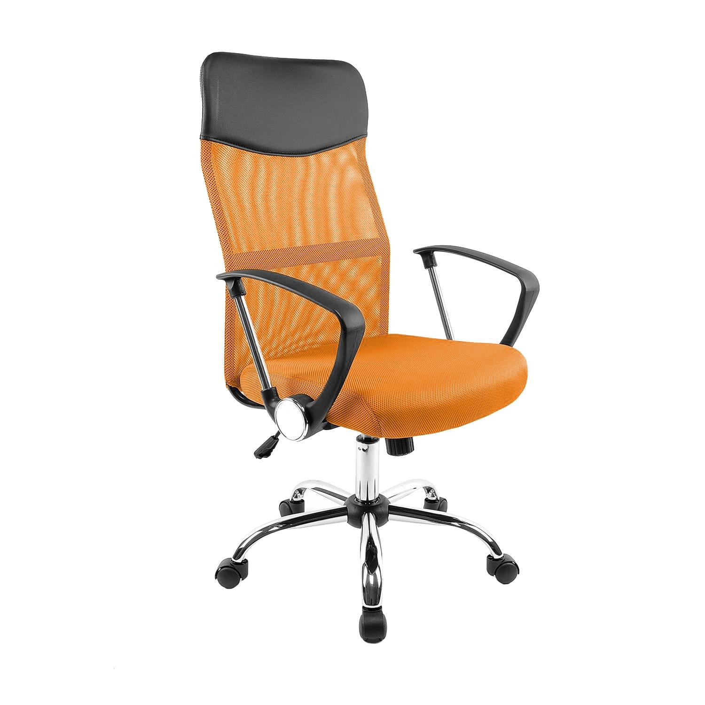 Fotografie Scaun de birou ergonomic Kring Fit, Mesh Negru/Portocaliu