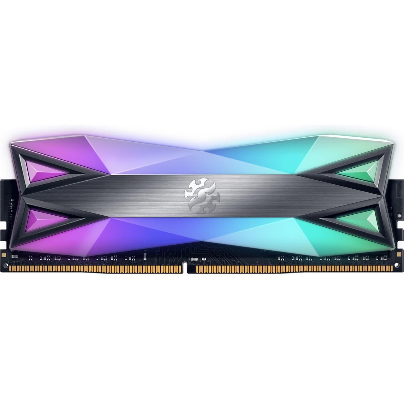 Fotografie Memorie ADATA SPECTRIX D60G RGB, 8GB DDR4, 3600MHz CL17