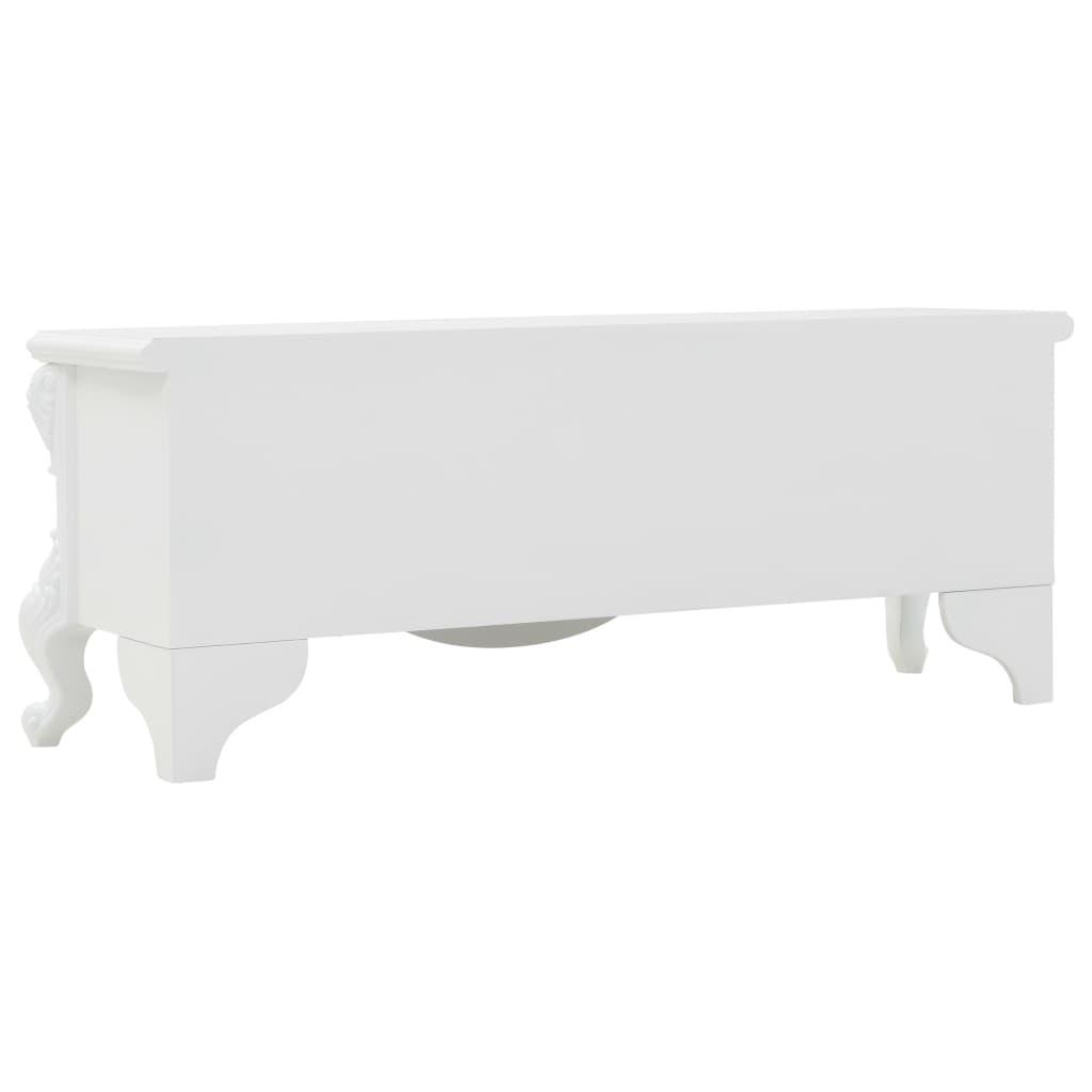 vidaXL fehér dohányzóasztal 115 x 35 x 45 cm dAO1UQ