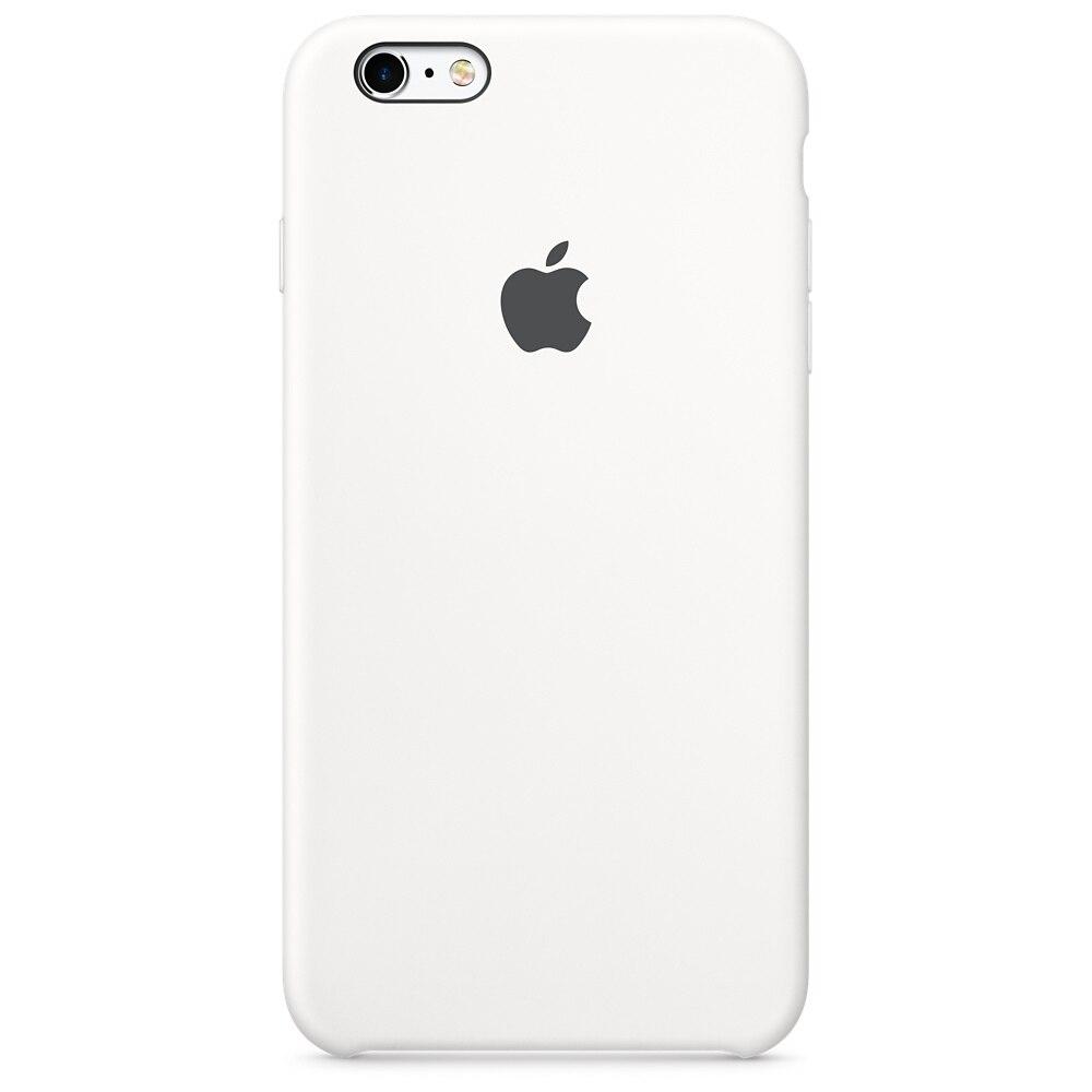 Fotografie Husa de protectie Apple pentru iPhone 6s, Silicon, White