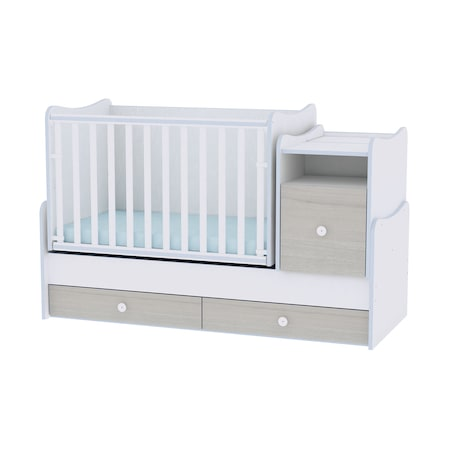 Трансформираща се мебел за детска стая Lorelli Classic Trend Plus, 167 x 72 x 105 см, White Blue Elm