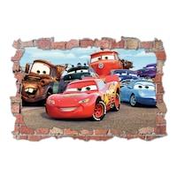 3D Dekorációs falmatrica, Cars, 60x90cm