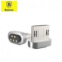 Адаптер Baseus Magnetic Adapter MicroUSB 2.4A Max, Сребрист