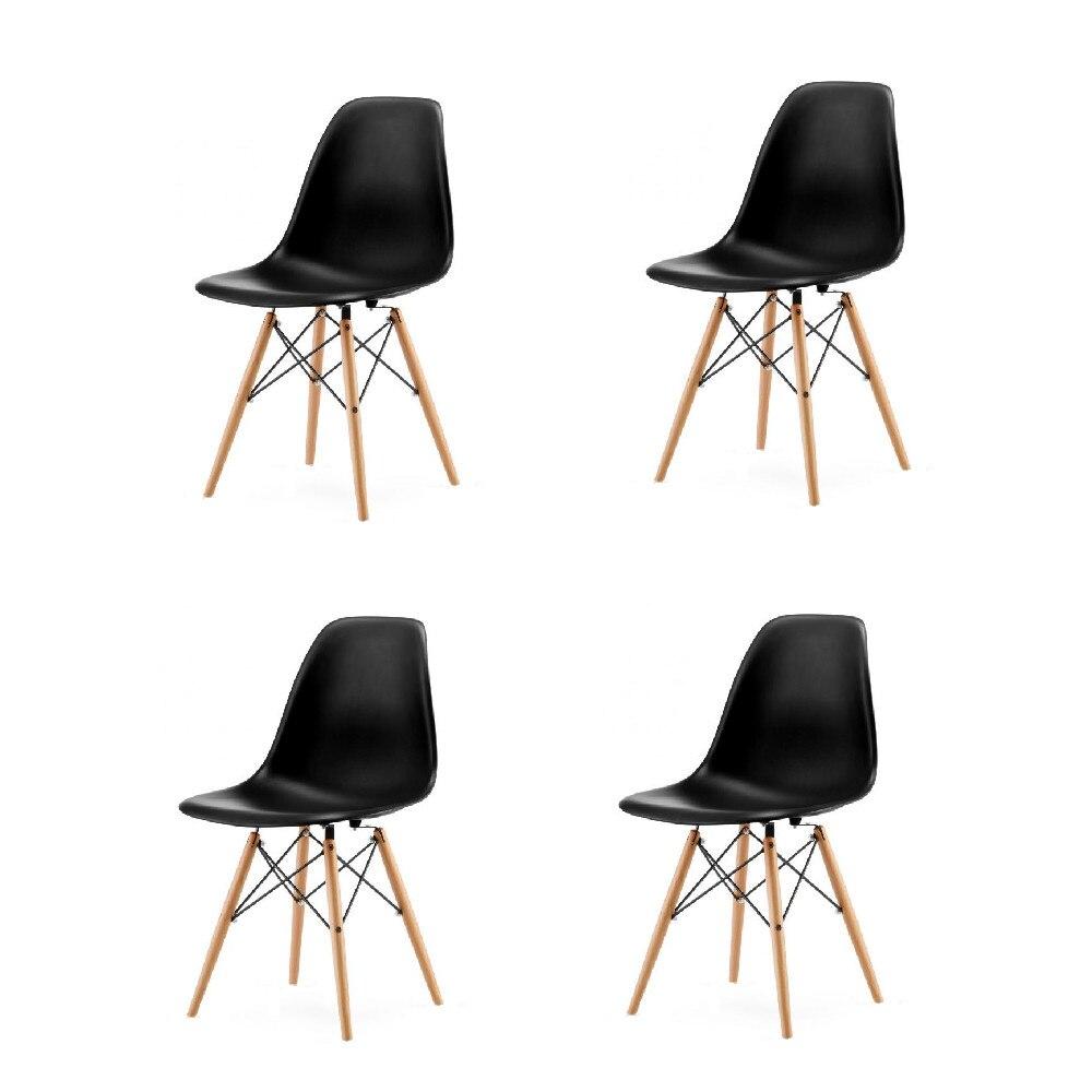 Palmonix 4x modern szék skandináv stílusban, fehér szín